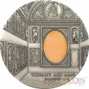 Palau 4th Edition MANNERISM series TIFFANY ART Silver coin $10 Antique finish 2008 Ultra High Relief 2 oz