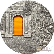 Palau 5th Edition BAROQUE series TIFFANY ART Silver coin $10 Antique finish 2009 Ultra High Relief 2 oz