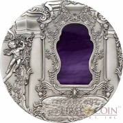 Palau 6th Edition ROCOCO series TIFFANY ART Silver coin $10 Antique finish 2010 Ultra High Relief 2 oz