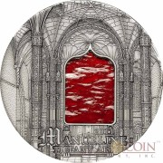 Palau 7th Edition MANUELINE series TIFFANY ART Silver coin $10 Antique finish 2011 Ultra High Relief 2 oz