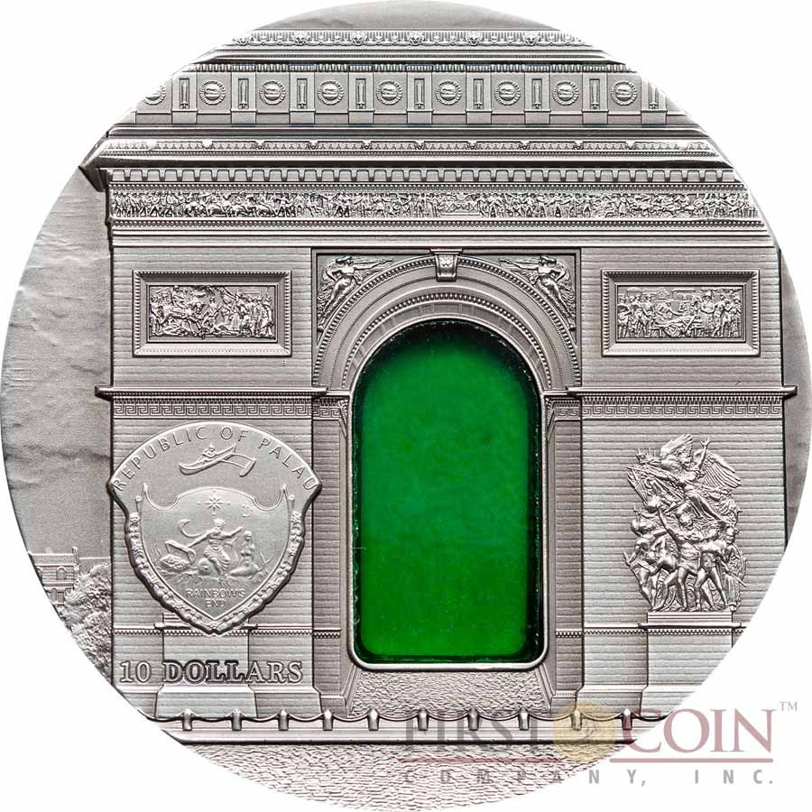Palau 8th Edition NEOCLASSICISM series TIFFANY ART Silver coin $10 Antique finish 2012 Ultra High Relief 2 oz