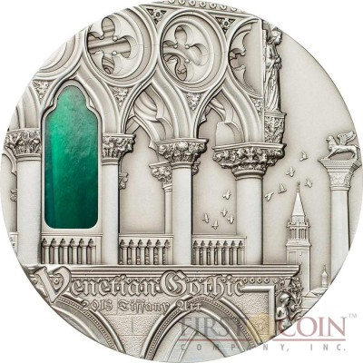 Palau 9th Edition VENETIAN GOTHIC series TIFFANY ART Silver coin $10 Antique finish 2013 Ultra High Relief 2 oz