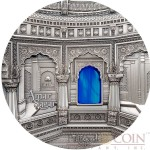 Palau 12th Edition AMAR SAGAR INDIA series TIFFANY ART Silver coin $50 Antique finish 2016 Ultra High Relief minting 1 Kilo / 32.15 oz
