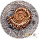 Mongolia AMMONITE Series EVOLUTION OF LIFE Silver Coin 500 Togrog Antique finish 2015 Rose gold plated Sensational High Relief Smartminting 1 oz