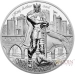 Cook Islands KING ARTHUR series LEGENDS OF CAMELOT $10 Silver Coin 2016 Ultra High Relief Smartminting technology Proof 2 oz