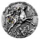 Niue Island BLACK HORSE series FOUR HORSEMEN OF THE APOCALYPSE $5 Silver Coin 2020 Antique finish Ultra High Relief Gold plated 2 oz