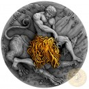 Niue Island NEMEAN LION series TWELVE LABOURS OF HERCULES $5 Silver Coin 2018 Antique finish Ultra High Relief Gold plated 2 oz