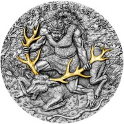 Niue Island CERYNEIAN HIND series TWELVE LABOURS OF HERCULES $5 Silver Coin 2020 Antique finish Ultra High Relief Gold plated 2 oz