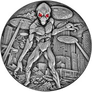 Republic of Chad ALIEN UFO INVASION 10,000 Francs 2018 Antique finish Ultra High Relief 2 oz