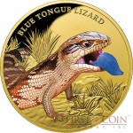 Niue Island BLUE TONGUE LIZARD $100 Gold coin 2016 Proof 1 oz