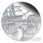 Niue Australasian Antarctic Expedition- Mawson 2014 Silver Coin $10 Proof 5 oz