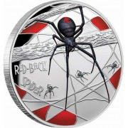 Niue Island RED-BACK SPIDER 150 Years - DEADLY and DANGEROUS $10 Silver Coin 2020 Proof 5 oz