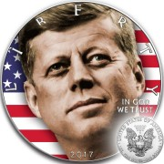 USA JOHN F. KENNEDY 35th U.S. President American Silver Eagle 2017 Walking Liberty $1 Silver Coin 1 oz