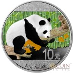 CHINA PANDA YEAR OF THE MONKEY series CHINESE LUNAR CALENDAR 2016 Silver Coin ¥10 Yuan 30 grams