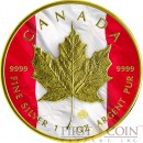Canada PATRIOTIC FLAG MAPLE LEAF $5 Gold Plated 1 oz 2014