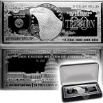 USA 20 Trillion Dollars IN GOD WE TRUST $20,000,000,000,000 EAGLE WHITE HOUSE Silver Bill Bar Proof 4 oz