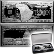 USA 20 Trillion Dollars IN GOD WE TRUST $20,000,000,000,000 EAGLE WHITE HOUSE Silver Bill Note Bar Proof 4 oz