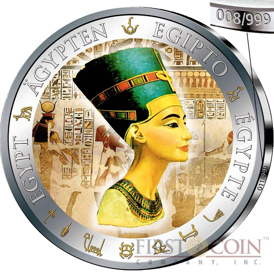 Cook Islands 2013 $5 History of Egypt Nefertiti 20g Silver Proof Coin
