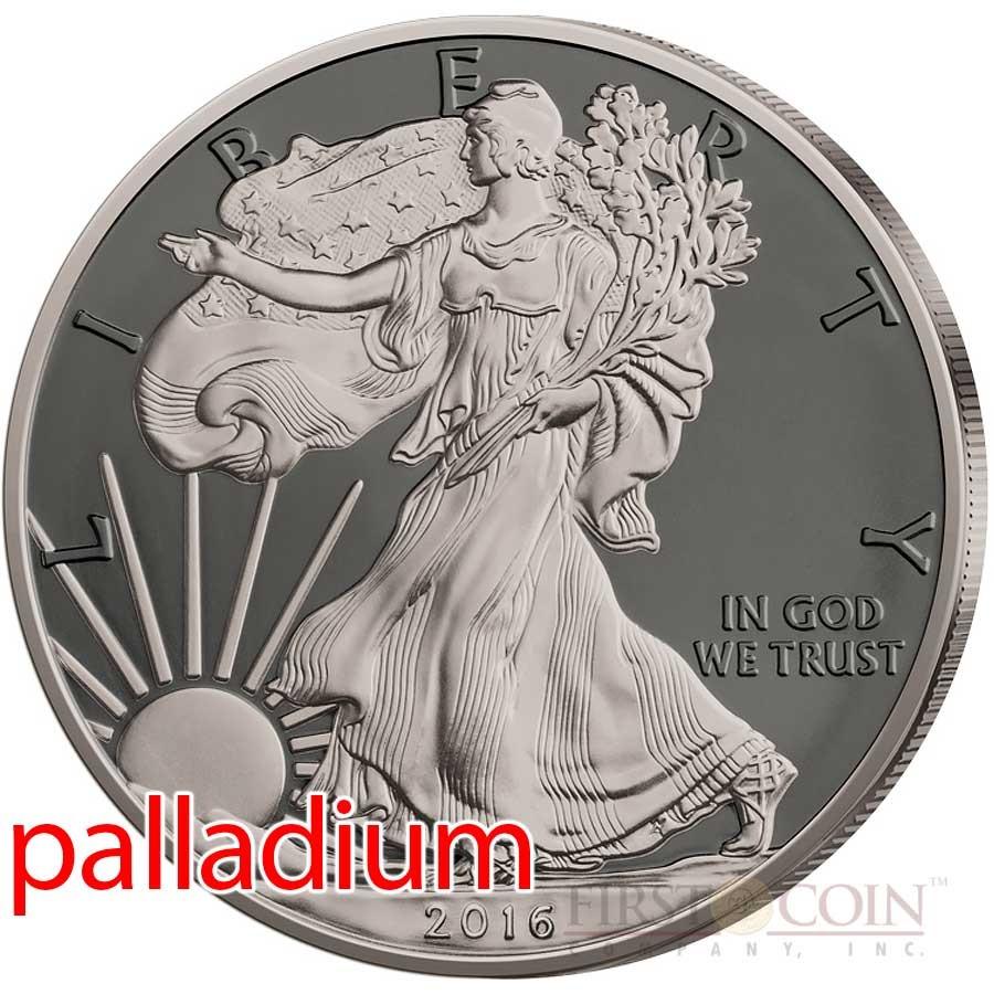 Black Ruthenium 2018 Patriotic Liberty 1 oz US American Silver Eagle Coin