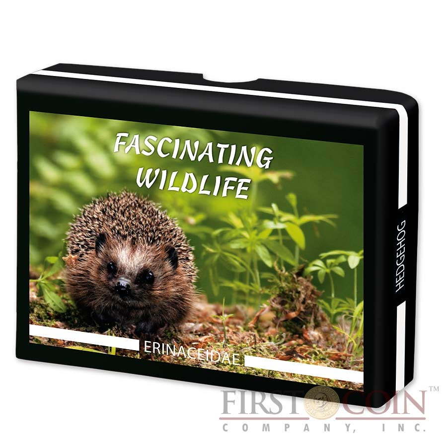 Fiji HEDGEHOG series FASCINATING WILDLIFE Silver Coin $10 Antique finish 2013 High Relief 1 oz