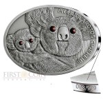 Fiji KOALA series FASCINATING WILDLIFE Silver Coin $10 Antique finish 2013 High Relief 1 oz