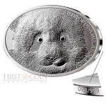 Fiji GIANT PANDA series FASCINATING WILDLIFE Silver Coin $10 Antique finish 2013 High Relief 1 oz