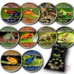Cook Islands Colorful Amphibians series Frogs Cu-Ni with Handcrafted Cold-enamel-application $0.50 Ten Coin Set 2000