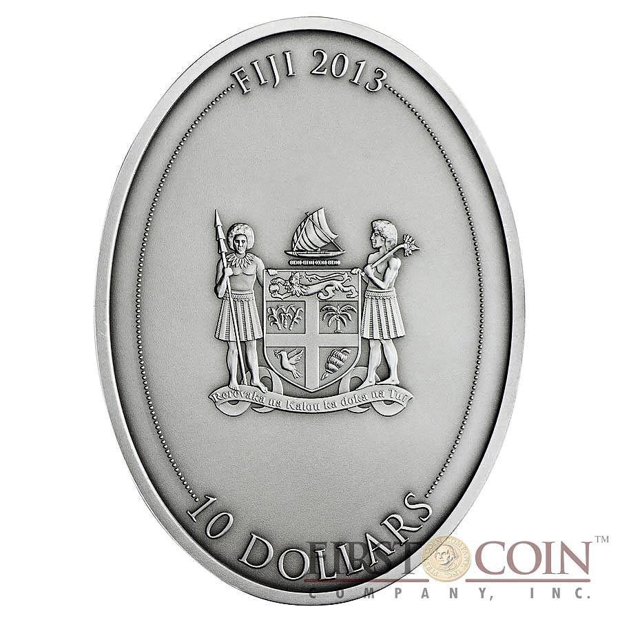 Fiji GLADIATRIX series GLADIATORS 2013 Silver Coin $10 Antique finish 1 oz