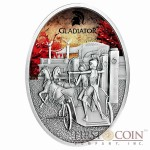 Fiji GLADIATRIX series GLADIATORS 2013 Silver Coin $10 Antique finish 1 oz