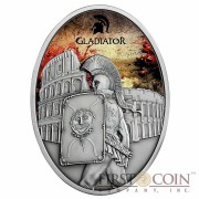 Fiji PROVOCATOR series GLADIATORS 2013 Silver Coin $10 Antique finish 1 oz