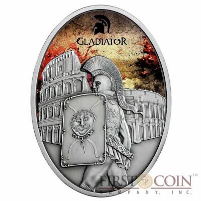 Fiji PROVOCATOR series GLADIATORS 2013 Silver Coin $10 Antique finish 1 oz