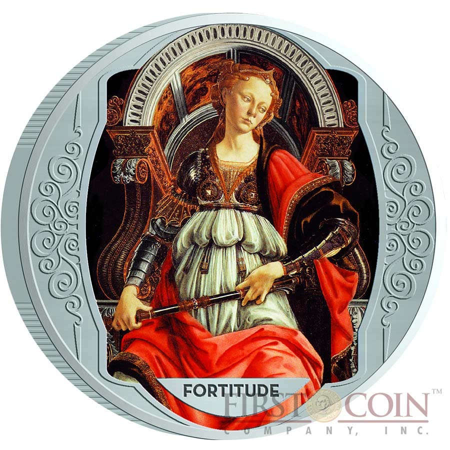 Italy series SEVEN VIRTUES Cu-Ni with Handcrafted Cold-enamel-application ₤70 Lira Italiana Seven Coin Set 1996