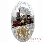 Fiji Union Pacific No. 119 Silver Coin Famous Steam Locomotives Series $10 Colored 2013 Antique finish