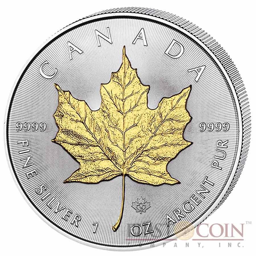 Canada Maple Leaf Four Seasons 4 Four Coin Set $20 Silver 2014 Yellow & Red Gilded, Diamond, Hologram 4 oz