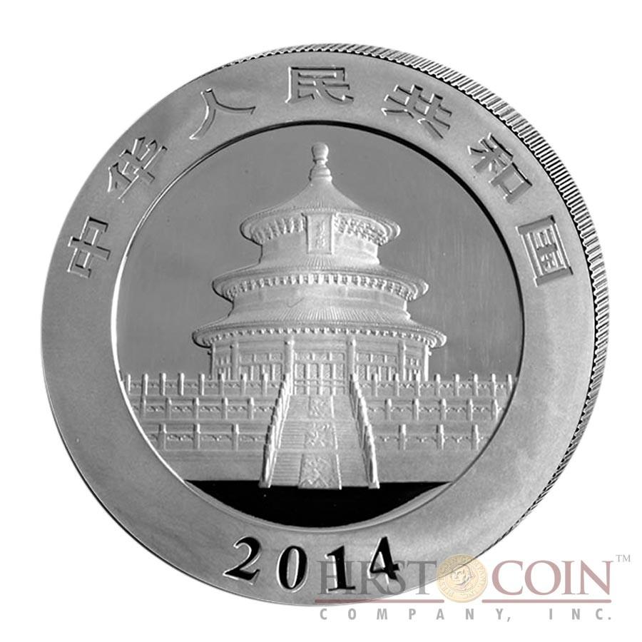 China Gilded Panda Silver coin 10 Yuans 1 oz Brilliant uncirculated 2014