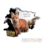 "Andorra Fox ""Nature Treasures of Andorra"" series 10 Diner Silver Colored Coin 2013 Andorra map Shaped Proof 1 oz"