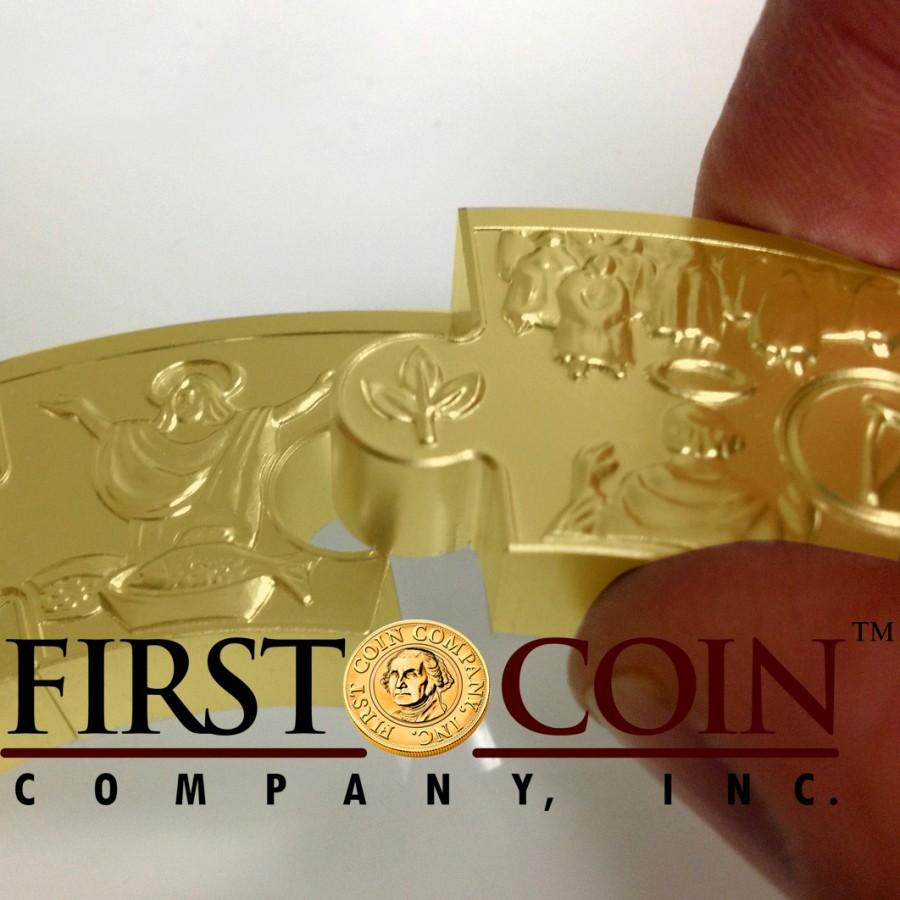 Tokelau APOSTLE JAMES Iacobus Maior PUZZLE COIN $1000 Gold Coin 2014 Proof 1 Kilo Kg / 32.15 oz
