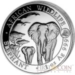 Somalia Elephant 100 Shillings series African Wildlife Silver Coin 1 oz Goat Lunar Year Privy Mark 2015