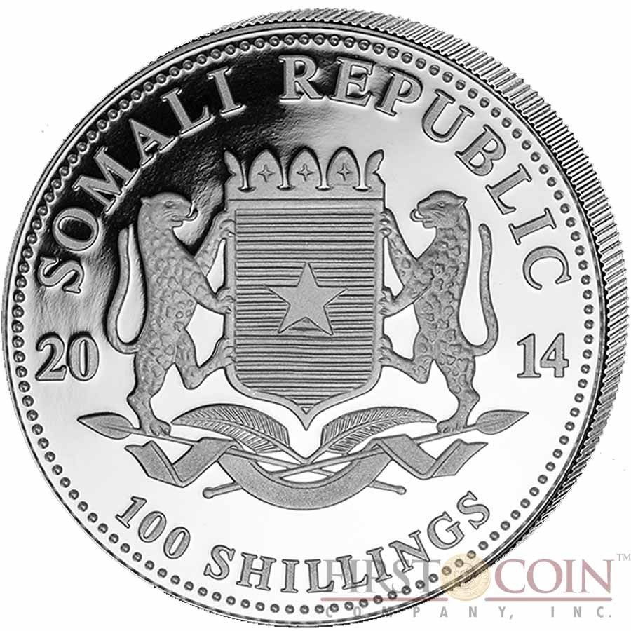 Somalia Elephant 100 Shillings Series African Wildlife