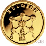 "Liberia BELGIUM $12 ""European Collection"" series Gold coin 2008 Proof"