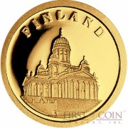 "Liberia FINLAND $12 ""European Collection"" series Gold coin 2008 Proof"