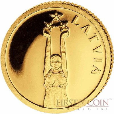 "Liberia LATVIA $12 ""European Collection"" series Gold coin 2011 Proof"