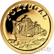 "Liberia PORTUGAL $12 ""European Collection"" series Gold coin 2008 Proof"