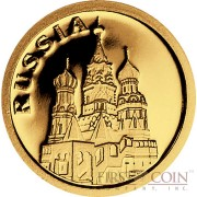 "Liberia RUSSIA $12 ""European Collection"" series Gold coin 2008 Proof"