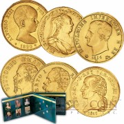 Germany THE GOLD MONARCHS Collection six Gold coin set 1814 - 1890