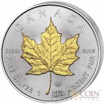 Canada Maple Leaf Canadian $5 Gilded 2014 Silver coin 1 oz