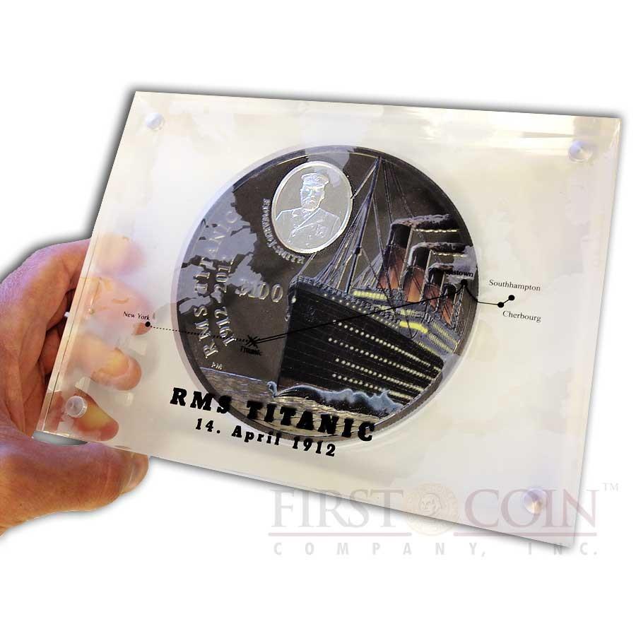 RCM original sealed 2012 R.M.S 25 cents oversize Coloured Coin Titanic
