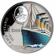 British Virgin Islands Titanic 1 Kilo/Kg Black Silver Colored Coin 100 Years Anniversary 2012 Proof