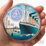 British Virgin Islands Titanic Leaving $2 Colored Bronze coin Proof 2012