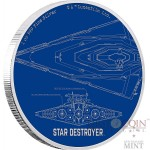 Niue Island STAR DESTROYER series STAR WARS SHIPS $2 Silver Coin 2017 Proof 1 oz